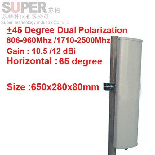 12dbi + 45 / - 45 град. двойной поляризации 806 - 960 мГц 1710 - 1500 мГц GSM антенны базовой станции использовать CDMA GSM 3 г антенна FDD LTE антенны