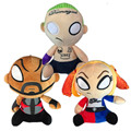 2016 New Movie Suicide Squad Plush Toys 3pcs/lot 20cm Figures Joker Deadshot Harley Quinn Stuffed Dolls Kids Children Cool Gift
