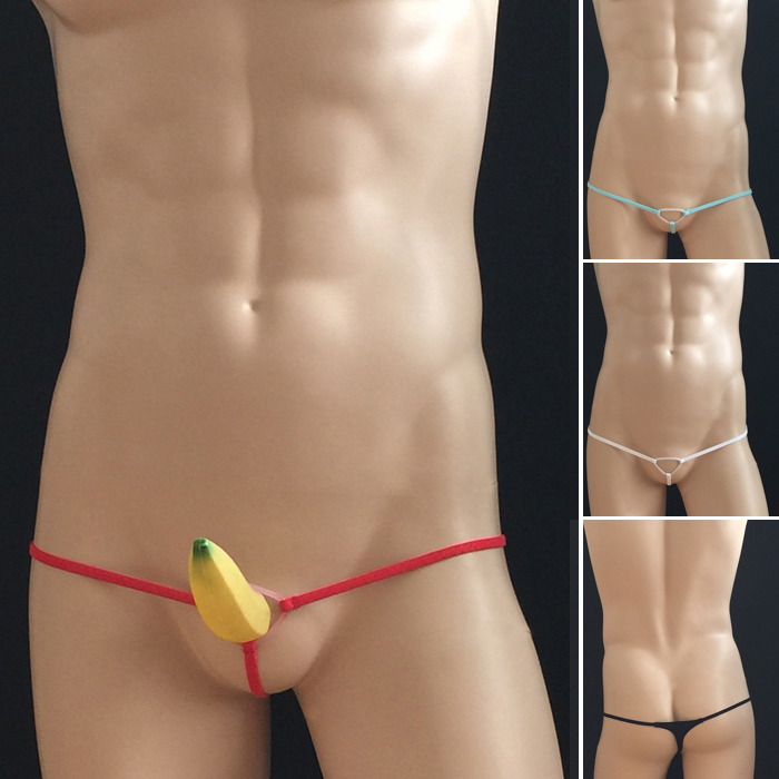 Open Dick Ring Mens G-strings Underwear Gay Men Sex Toy Erotic Thongs Underwear Men's Sexy Exotic T-back Low Rise Underwear