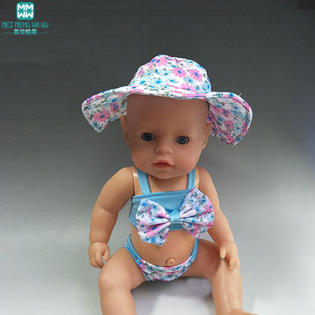 Fit 43 cm Zapf Baby Born Fashion Swimsuit for girls Christmas Gift Doll Accessories