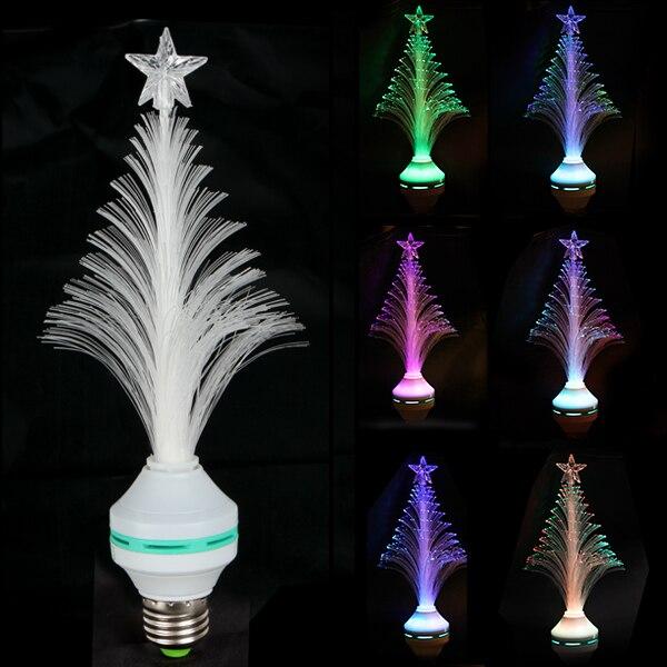 E27 Multi Colors Changing LED Bulb Lamp 3W 85V ~ 260V Tree Shape Christmas Home Decoration Light Bulb xl10 fiber optical flower e27 3w 30lm 490nm led blue light christmas tree lamp white 85 260v