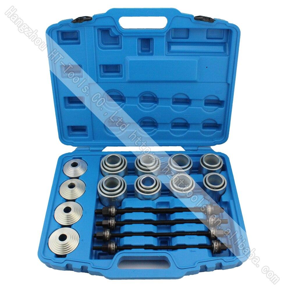 28 pz master presse e estrattore manica kit guarnizioni cespugli cuscinetti strumento di rimozione strumento di riparazione auto