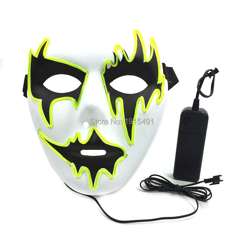 Masque lumineux de Cosplay de fil de fil d'el pailleté populaire néon a mené le masque de reine de danse de beauté comme sombre dans les fournitures de fête d'événement de lueur