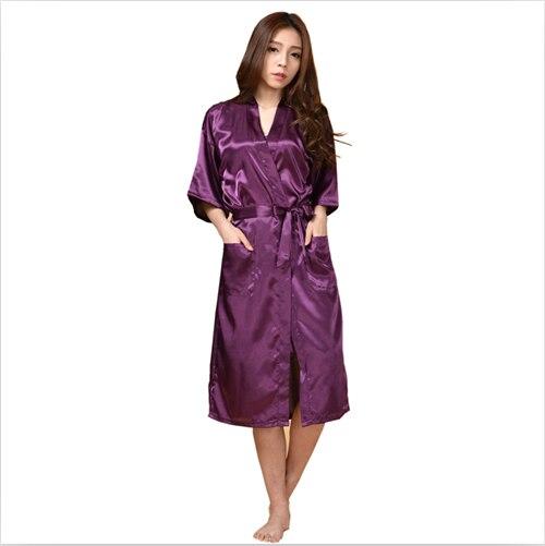 Woman summer new arrival womens nightwear bathing robes fashion sleepwear for female high quality real silk