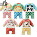 Retail 1-3years long-Sleeved Baby kids Infant rompers cartoon for boys girls jumpsuits babys Clothing cute clothes 2015