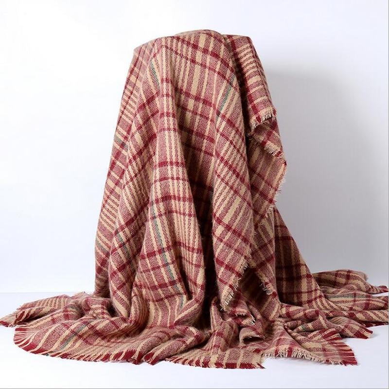 Za winter acrylic cashmere font b tartan b font plaid scarf brand designer blanket Scarves shawl