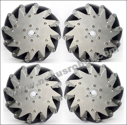 8 Inch Heavy Duty Mecanum Wheel Nexus 14151( Load Capacity:150kg/set) a set of heavy duty mecanum wheel with imported material pu roller 14169