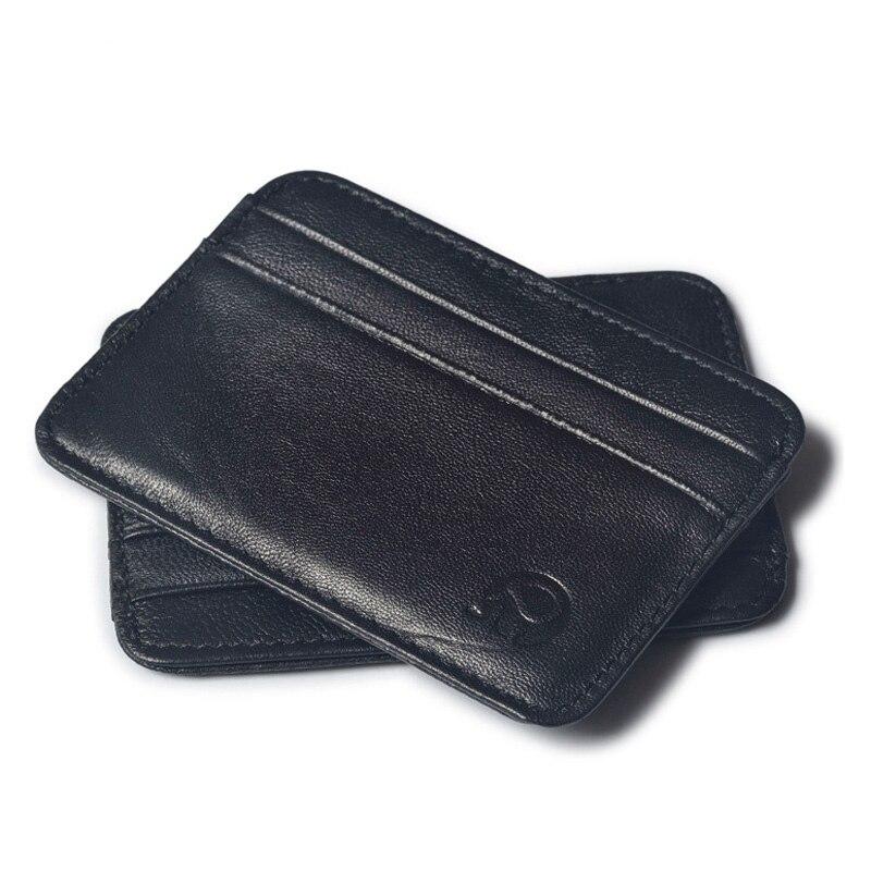 En peau de mouton En Cuir Véritable Titulaire De la Carte Mince Femmes Business Credit Card Id Cas de Couverture À Protéger Les Cartes De Crédit Porte Carte Femme