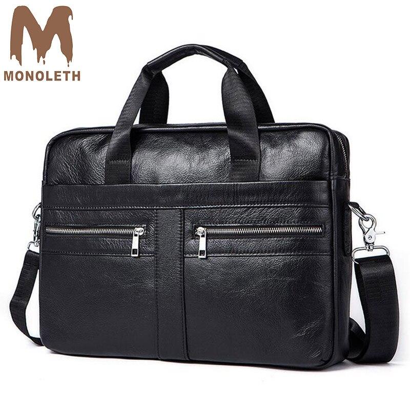 MONOLETH 2018 Brand Business Handbag Genuine Leather Briefcase men Messenger Bag