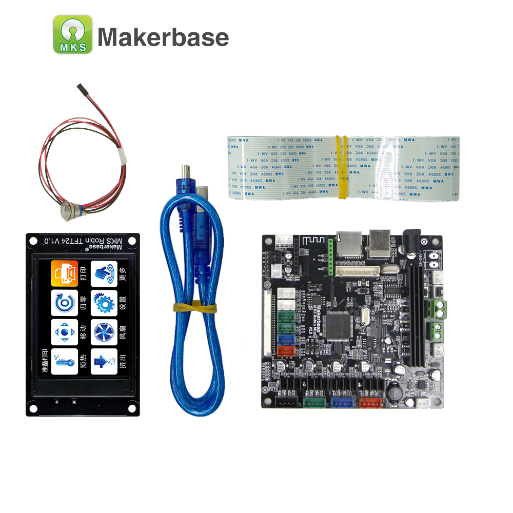 MAKERBASE 3D printer board STM32 MKS Robin mini with 2.4 inches TFT display closed source software support auto off onboard 3d printer parts mks robin v2 2 controller motherboard with robin tft32 display closed source software mks robin wifi module