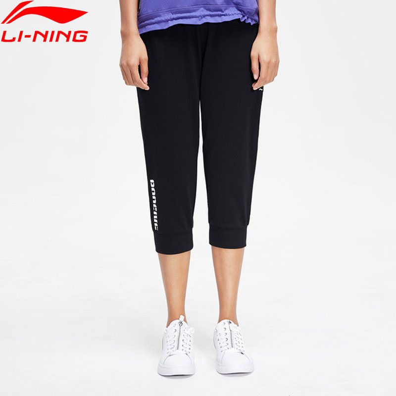 Li-Ning Women Basketball BAD FIVE 3/4 Sweat Pants Regular Fit 72%Cotton 28%Polyester li ning LiNing Sports Pants AKQP018 WKY236