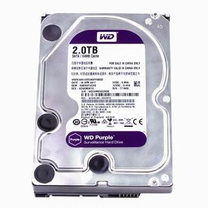 Image 3 - Western Digital WD Purple 2 ТБ 3,5 дюйма HDD для наблюдения 64 Мб SATA 6 ГБ/сек. внутренний жесткий диск для видеорегистратора NVR WD20EJRX
