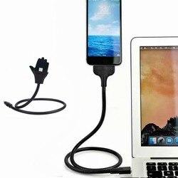 Wsparcie linia danych interfejs muzyczny elastyczne ładowanie uchwyt na kabel Usb Micro Datakabel na dla Apple/Letv/Android Telefoons|Kable do przesyłu danych|Elektronika użytkowa -