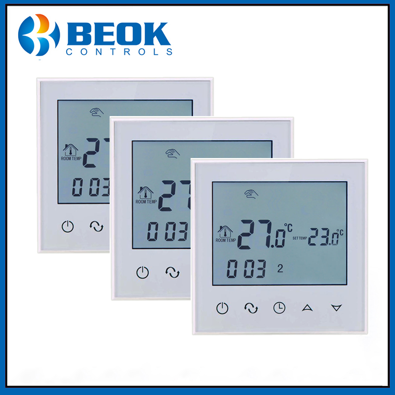 Beok TDS21 EP 3 PCS Electric Floor Heating Room Touch Screen Thermostat Warm Floor Heating System
