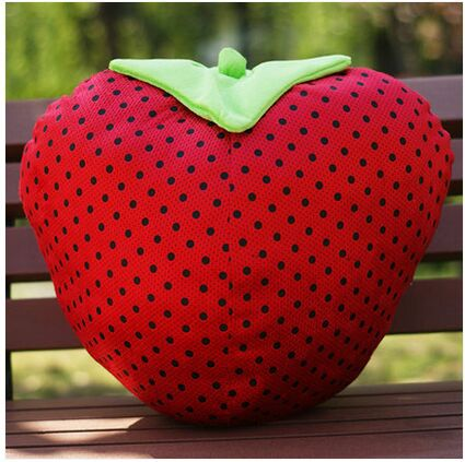 small lovely strawberry toy plush cute red doll gift 30cm - cindy's room store