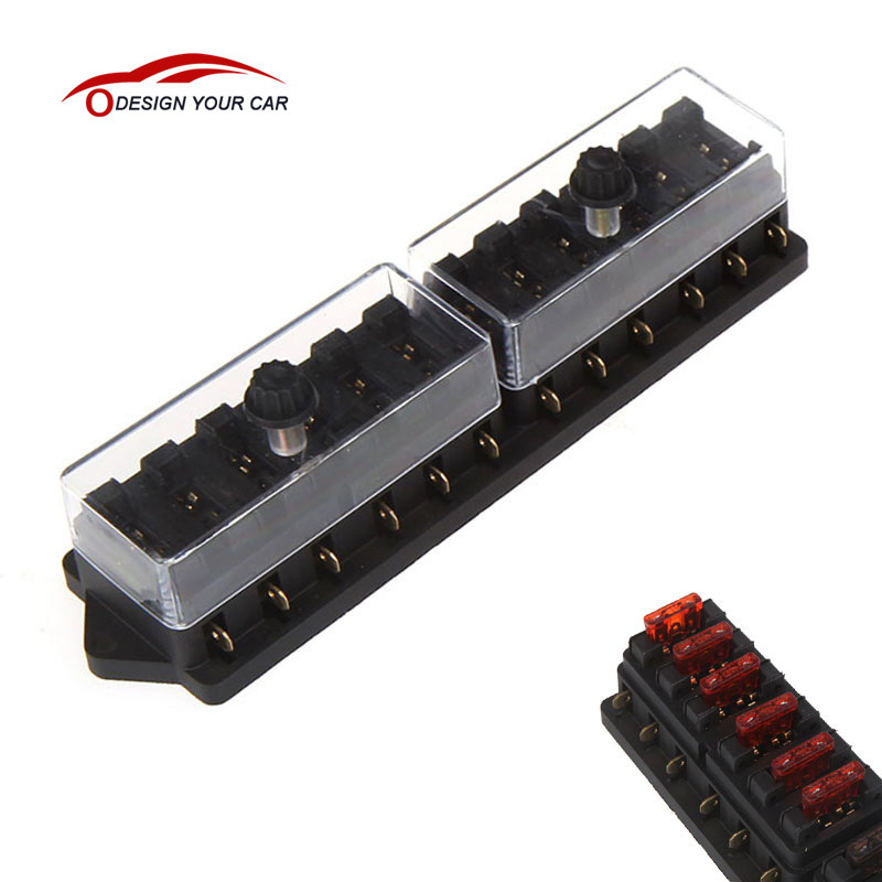 online get cheap universal car fuse box aliexpress com alibaba kkmoon universal car truck vehicle 12 way circuit automotive middle sized blade fuse box block