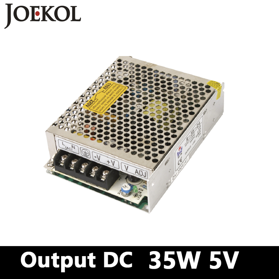 switching power supply 35W 5V 7A Single Output Mini ac dc converter for Led Strip,AC110V/220V Transformer to DC 5V,led driver free shipping 35w 24v 1 5a single output mini size switching power supply for led strip light ms 35 24