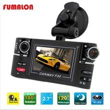 Full HD Рекордер Камеры Автомобиля Автомобильный Видеорегистратор с Двумя Объективами Dvr 2.7 Дюймов TFT Screen2 Камеры Автомобильный Видеорегистратор Цифровая Видеокамера двойной dash камера
