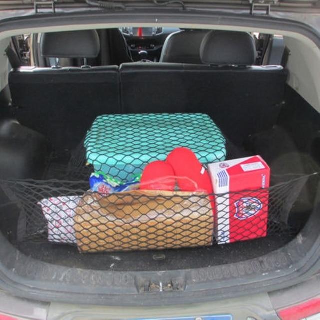 1 Pcs מזוודה SUV אחסון תיק גמישות אמין רכב אביזרי 90*40 כפול שכבה אנכי מוגן אחורי דלת אחסון נטו