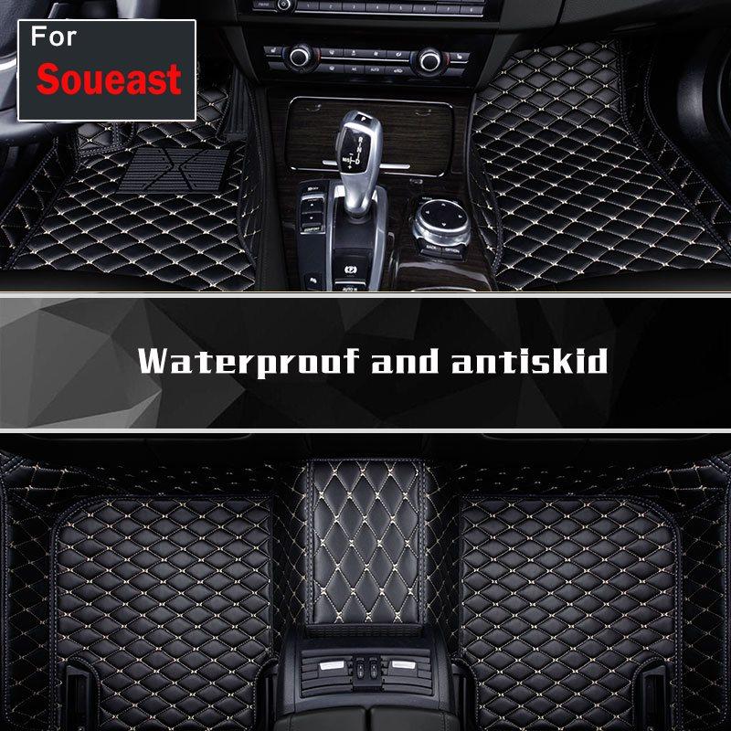 2018 haute qualité 1 set voiture style gauche lecteur Pad tapis de sol tapis couverture autocollant pour Soueast Dx7 V3 V5 V6 V6-Cross Lioncel Dx3