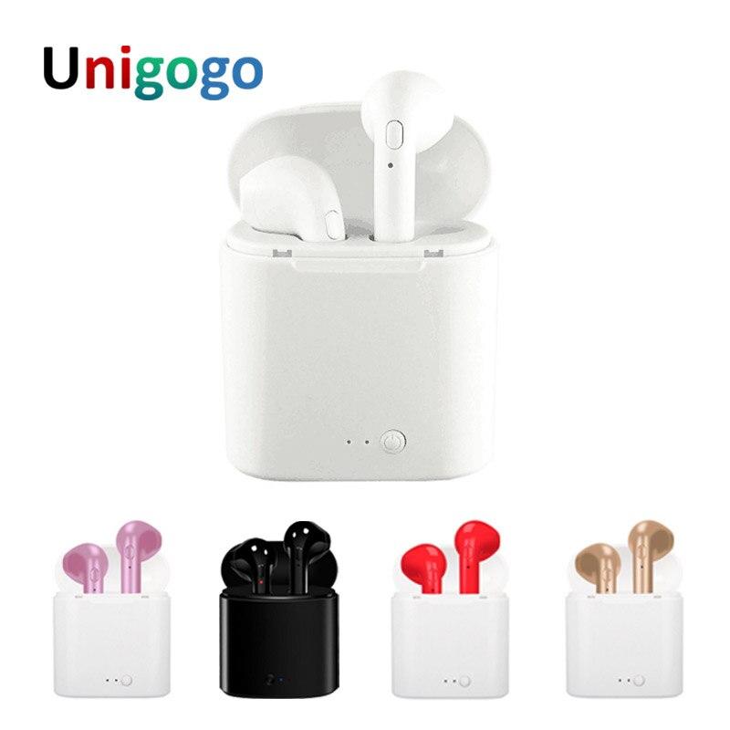 Mini I7 et i7 TWS Bluetooth Casque Stéréo Écouteurs Portable Écouteurs Ture Sans Fil Casque avec Micro Pour iPhone Android téléphone