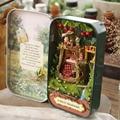 Forest Rhapsody Q001 Iron box DIY doll house miniature dollhouse 3D tree house