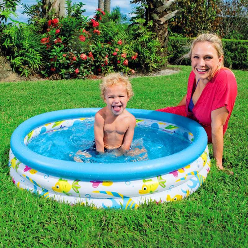 Bébé flotteur gonflable piscine enfants dessin animé salle de bain piscine d'eau jeu jouets Piscina accessoires Boia pour enfants bassen