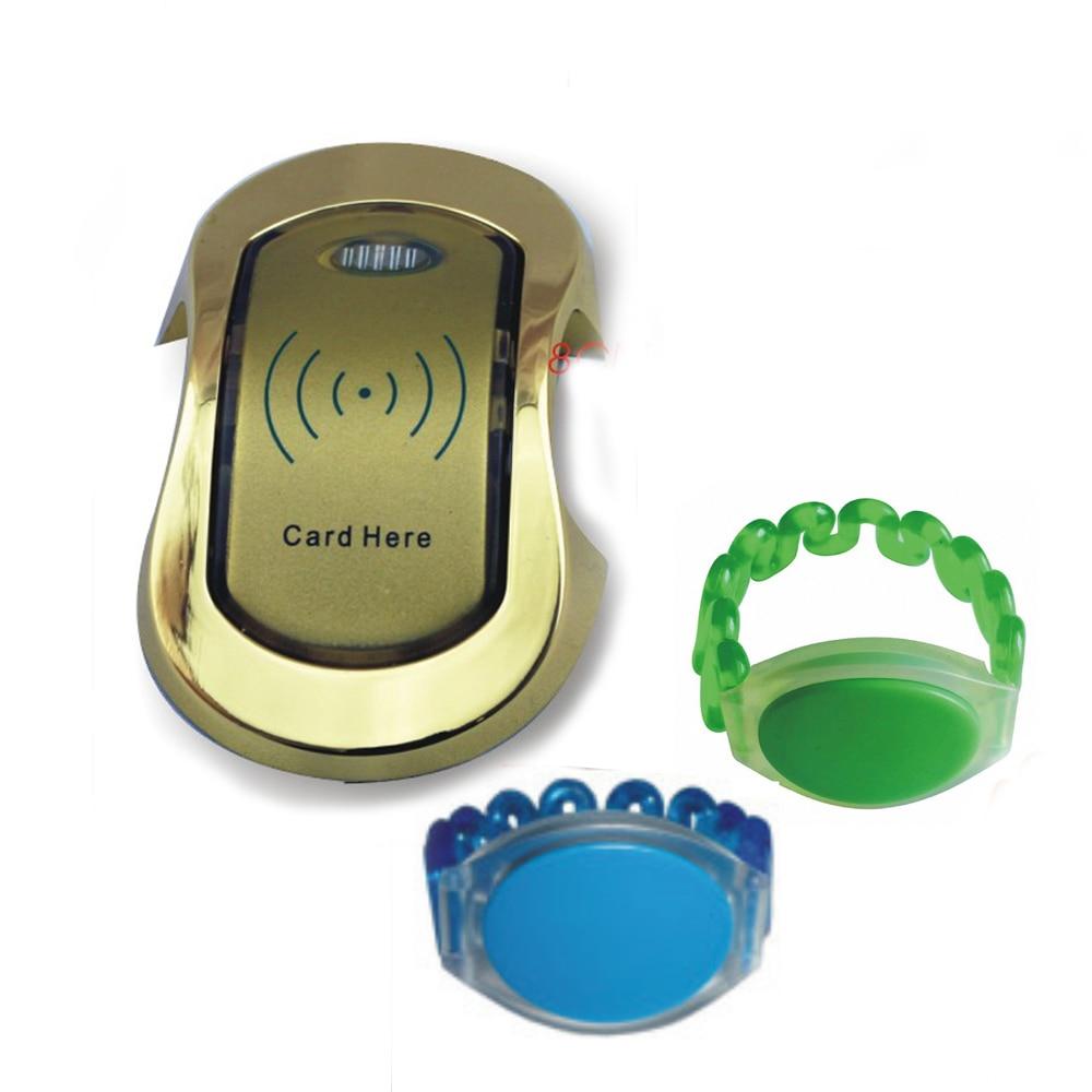 Produce 125 KHZ RFID store content ark wardrobe/supermarket cabinet lock/swimming pool+1 watchband