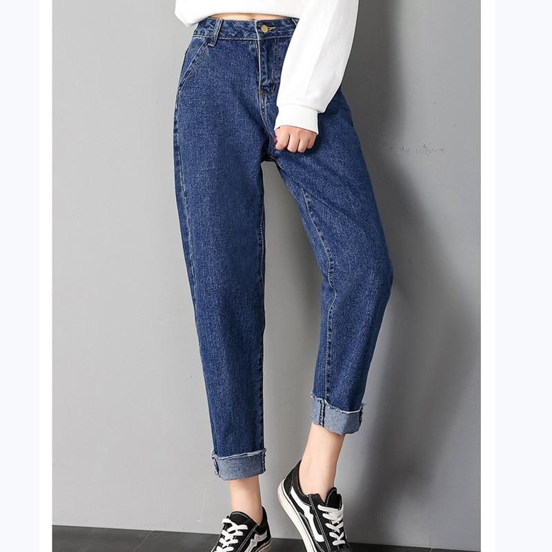 JUJULAND 2018 Autumn Clothes Ladies High Waist Female Boyfriend Jeans For Women
