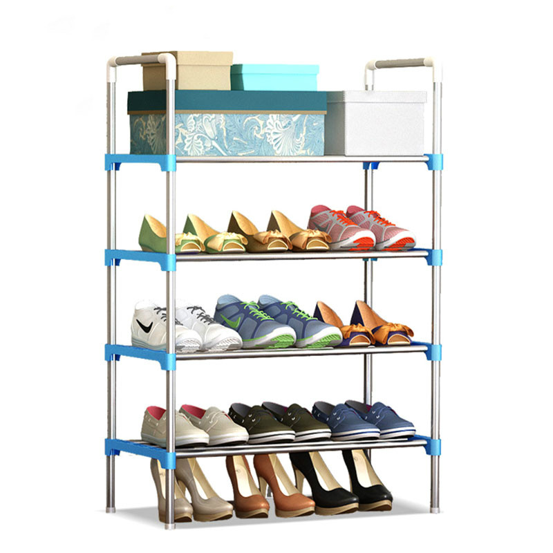 Simple Multi-layer DIY Assembly Metal Iron Shoe Shelf Student Dormitory Shoe Storage Rack Large Capacity Shoe Cabinet цены