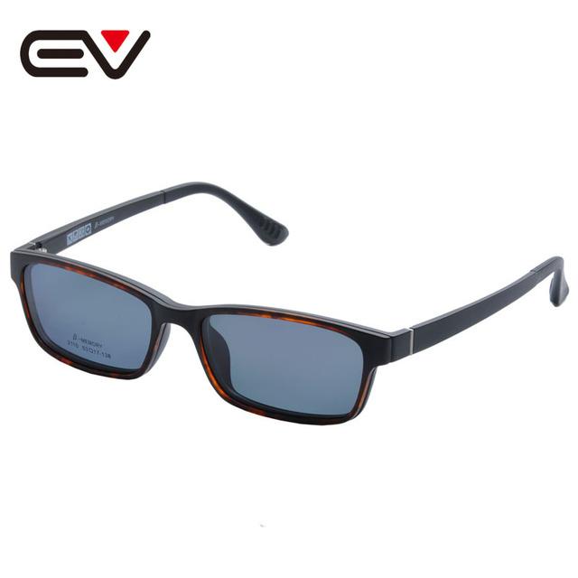 Óculos de Armação Com Magnético Óculos Polarizados Clipe Miopia Óculos Polarizados Condução Óculos De Sol Grampo Em Dupla Finalidade EV1409