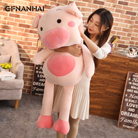 1pc 80/100CM Big Size kawaii Pig Plush Toy Stuffed Down Cotton Pillow Children Kids Christmas Present
