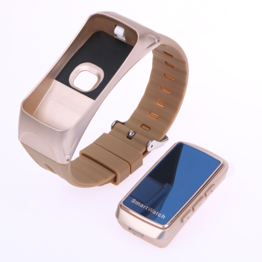 Smart Bracelet B7 Bluetooth Earset Style Heart Rate Monitor Smart Watch 0 71 OLED Screen Business