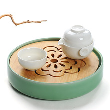 New,small bamboo tray,Japanese style,Kungfu pot trivets,drain drawer, tools/accessories,for chinese tea tie guan yin,milk oolong(China)