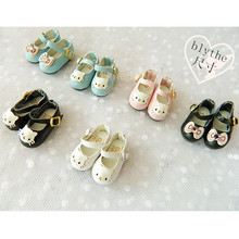 1 Pair Lovely Bowknot Cat Princess Marry Jane Shoes for Blyth ae6c657afbd8