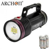 200 м подводный видео светодио дный мощный фонарик 7000 LM XM L2 U2 ARCHON WG76W DG70W Погружения свет встроенный 18650*6
