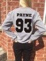 Женщины Мужчины Повседневная Перемычка Пуловеры Payne 93 Толстовка One Direction Письмо Мода Весенние Толстовки Верхняя Одежда