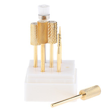 7PCS Tungsten Steel Cuticle Clean Nail Drill Bit Diamond Rotary Burrs 3/32» Electric Nail File For Manicure Pedicure Tools