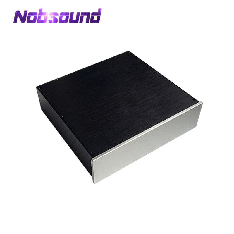 цена на Nobsound Preamplifier/Tube Amp Chassis Aluminum Enclosure Blank Case DIY House