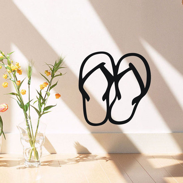 8170a2fe527fba Flip-Flops Wall Stickers Home Decor Hawaii Car Styling Decals Vinyl  Removable Window Laptop Sticker Decoration