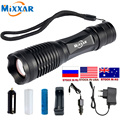 ZK20 Dropshipping Powerful T6 LED Flashlight torch 9000LM Waterproof Outdoor Rechargeable Camping Lamp Light Tactical Flashlight