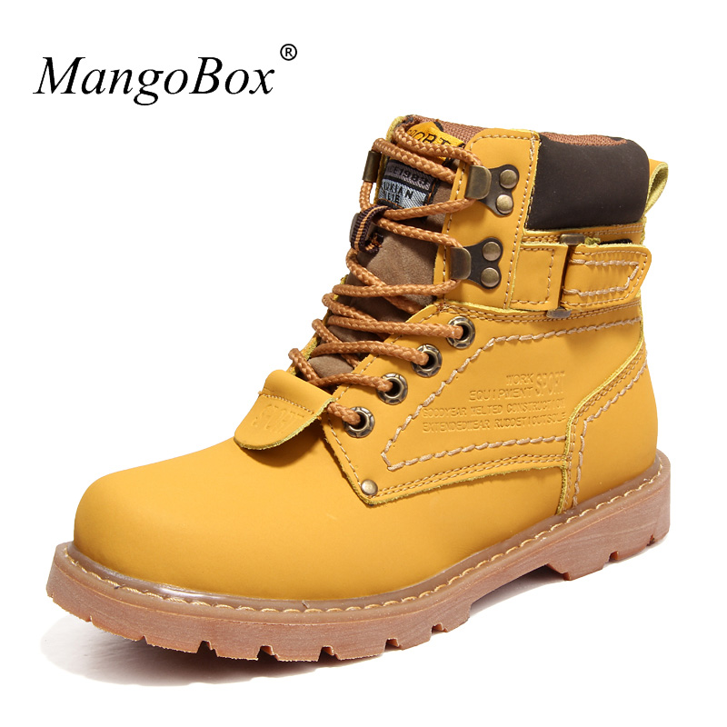Fashion Safety Shoes Mens Boots Casual Designer Casual Sneakers For Men Rubber Mans Footwear Winter Wearable Working Boots Men