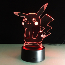 Hot sale 3D stereoscopic night light Colorful touch LED visual light USB-powered night small table lamp