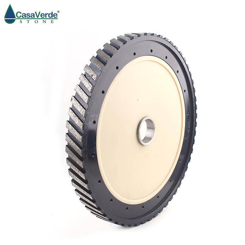 DC-SCGW1425 Diamond Silent Core Milling Wheel D350mm With Segment Wide 25mm Grinding Granite And Marble