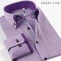 SmartFive Рубашка Мужская С Длинным Рукавом Бизнес Хлопок марка одежды Осень Лето вечернее платье рубашка Большой Размер XS, S, M, L, XL-5XL 6xl