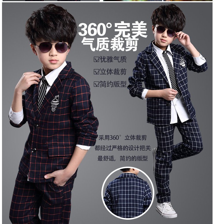 Aliexpress.com : Buy formal children's suits clothing set boys 2 ...