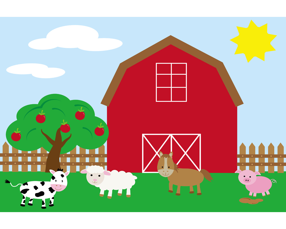 baby backdrop cartoon farm background photo props for ...