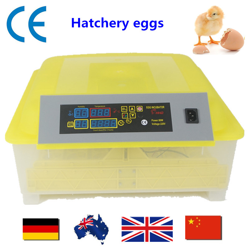 48 Eggs  Chicken Incubator automatic  brooder  Mini Incubators hatchery eggs Digital Duck Bird CE approved ship from germany free ship to au new sale home automatic egg incubator 56 eggs chicken incubator brooder quail eggs incubators