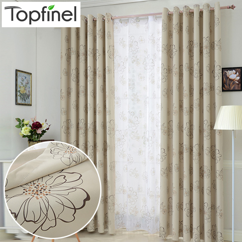 Topfinel New Luxury Modern Shade Blackout Curtains For Living Room The Bedroom Kitchen Room Window Curtain Set Blinds Drapes