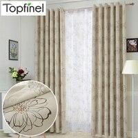 Topfinel-cortinas opacas modernas de lujo para sala de estar, dormitorio, cocina, habitación, cortinas de ventana